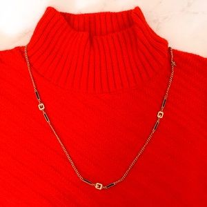 Rare Givenchy 1976 Gold- plated Necklace